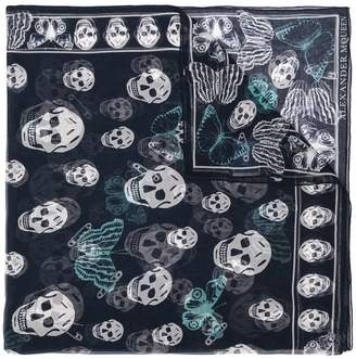 Alexander McQueen butterfly and skull print scarf