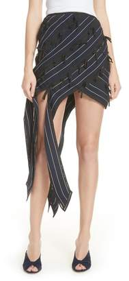 Self-Portrait Bow Detail Asymmetrical Skirt