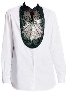 Emporio Armani Baguette Beaded Button-Down Shirt
