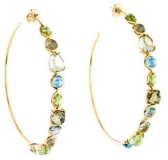 Ippolita 18K Multistone Gelato Hoop Earrings