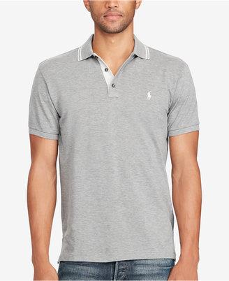 Polo Ralph Lauren Men's Custom-Fit Mesh Polo $89.50 thestylecure.com