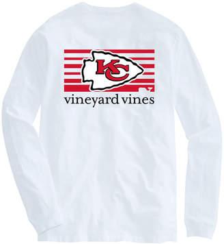 Vineyard Vines Adult Chiefs Long-Sleeve Block Stripe T-Shirt