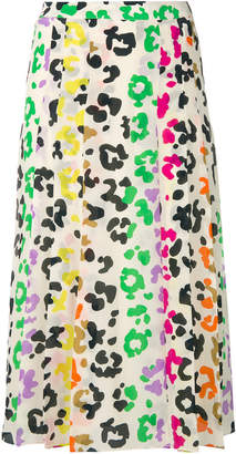 Essentiel Antwerp leopard print pleat skirt