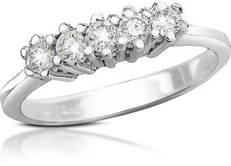 Forzieri 0.225 ct Diamond 18K Gold Band Ring