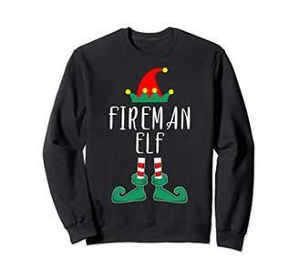 Fireman Elf Costume Christmas Holiday Matching Sweatshirt