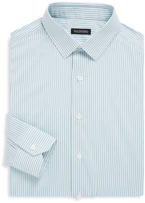Valentino Men's Stripe Cotton Classic-Fit Dress Shirt