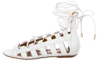 Aquazzura Amazon Leather Sandals
