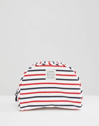 Jack Wills Navy Stripe Toiletry Bag