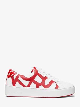 566609ab3826 MICHAEL Michael Kors Poppy Graphic Logo Leather Sneaker