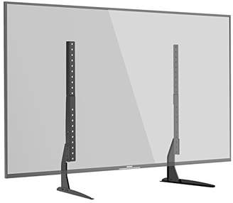 """1home Universal Tabletop TV Stand Pedestal Mount Monitor Riser fits 22""""-65"""" Screens"""