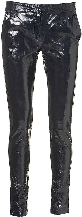 Patent Leather Skinny Trousers