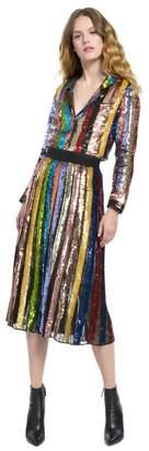 Alice + Olivia Tianna High Waisted Sequin Skirt