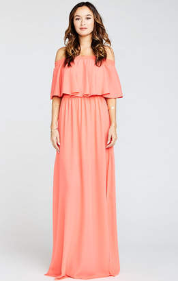 Show Me Your Mumu Hacienda Maxi Dress ~ Bright Coral Crisp