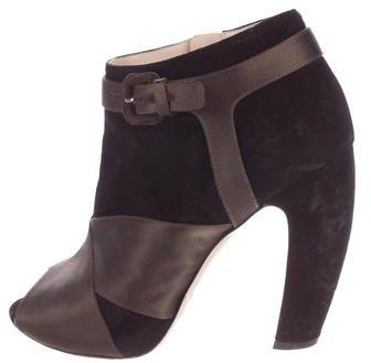 Miu MiuMiu Miu Peep-Toe Ankle Boots