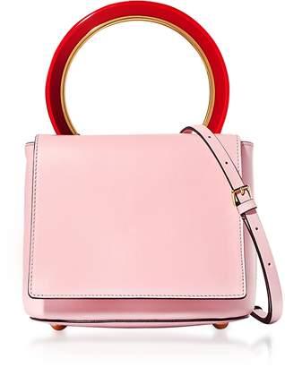 Marni Cinder Rose Leather Pannier Bag