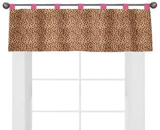 JoJo Designs Sweet Window Valance - Cheetah Pink