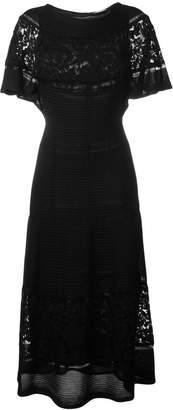 Valentino long lace panel dress