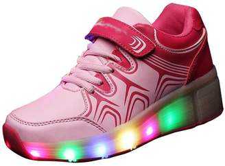 Heelys Eagsouni iLory Kids LED Light Roller Skate Shoes with Wheels Flashing Sneakers Single Wheel Luminous