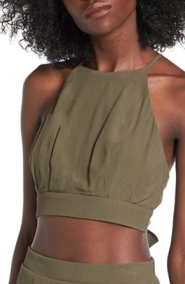 Women's Soprano High Neck Crop Top $25 thestylecure.com