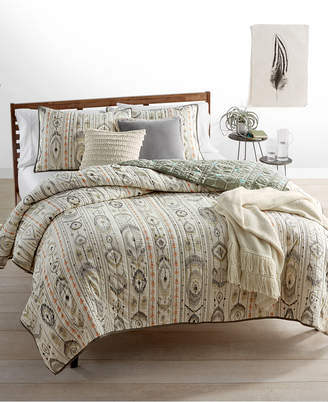 Martha Stewart Collection CLOSEOUT! Whim by Collection Freebird 100% Cotton Reversible Twin Quilt, Created for Macy's