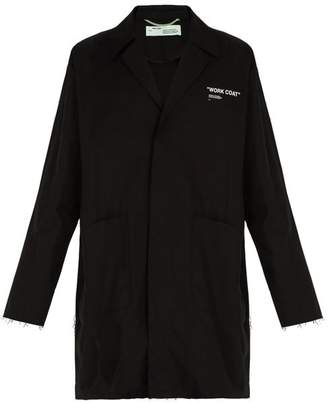 Off-White Off White work Coat Cotton Jacket - Mens - Black