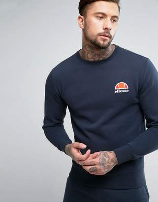 Ellesse Sweatshirt With Small Logo In Navy