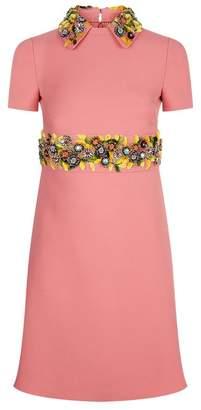 Valentino Embellished Collar Dress