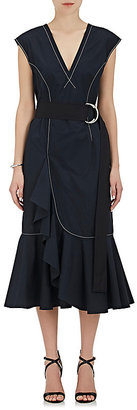 Derek Lam 10 Crosby Women's Cascading-Ruffle Cotton Poplin Dress $395 thestylecure.com