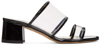 Maryam Nassir Zadeh Black Martina Clear Slide Sandals