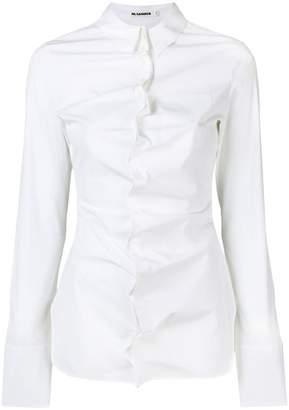 Jil Sander gathered button placket shirt