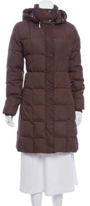 Burberry Hooded Down Puffer Coat Brown Hooded Down Puffer Coat