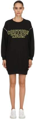 Moschino Oversized Couture Wars Sweatshirt Dress