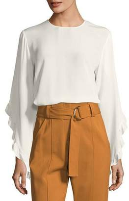 A.L.C. Hera Long-Sleeve Silk Top