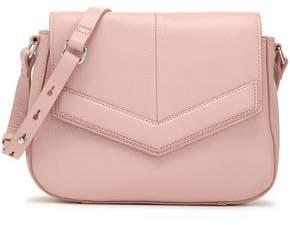 Halston Textured-Leather Shoulder Bag