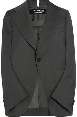 Junya Watanabe - Blazer-style Wool Cape - Dark gray $1,345 thestylecure.com