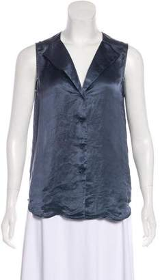 Theory Sleeveless Satin Top