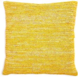 Sil'ouette Crochet Raffia Pillow Yellow