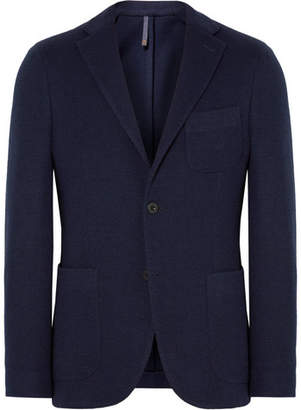 Incotex Navy Slim-Fit Unstructured Wool-Blend Blazer