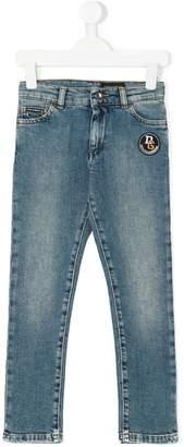 Dolce & Gabbana leopard appliquéd jeans