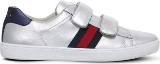 Gucci New Ace VL metallic trainers 6 months-2 years