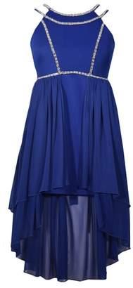 Iris & Ivy Rhinestone Trim High/Low Dress