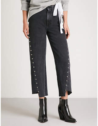 7 For All Mankind Marnie studded wide-leg jeans