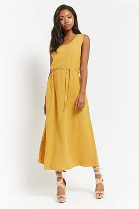 Forever 21 Sleeveless Linen-Blend Dress