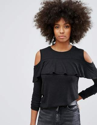 Only Frill Cold Shoulder Top