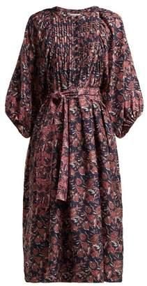 Apiece Apart Femek Silk Midi Dress - Womens - Multi