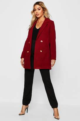 boohoo Petite Collared Tailored Wool Look Coat