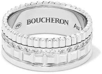Boucheron Quatre Radiant Edition Small 18-karat White Gold Diamond Ring - 50