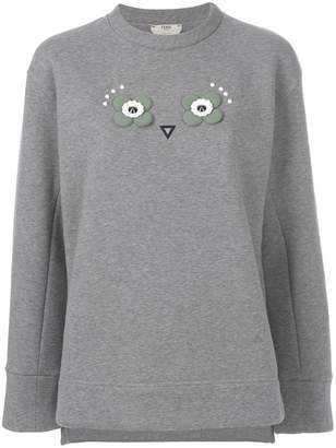 Fendi Owl appliqué jumper