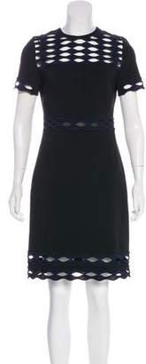 Yigal Azrouel Short Sleeve Knee-Length Dress
