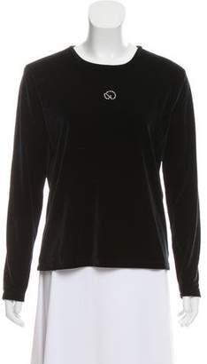 St. John Sport Velvet Long Sleeve Top